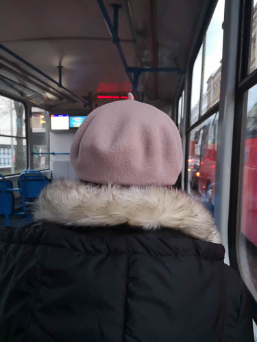 Person on the tram